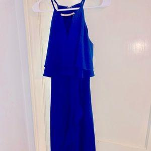 Sleeveless Royal Blue Dress